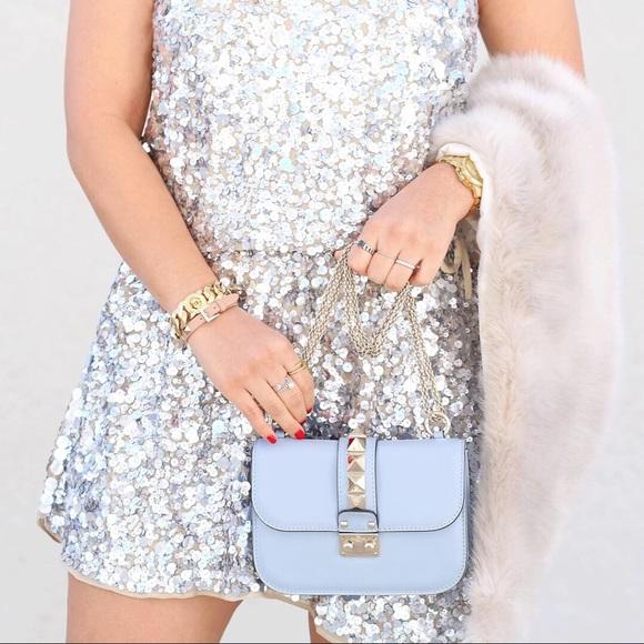 Valentino Handbags - Valentino Rockstud shoulder bag in sky blue - used